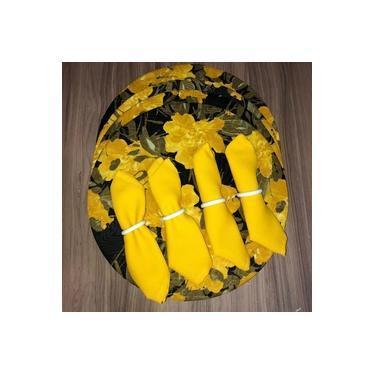 Imagem de Kit 8 Peças Jogo Americano De Tecido Redondo Souplast Mesa Posta Floral