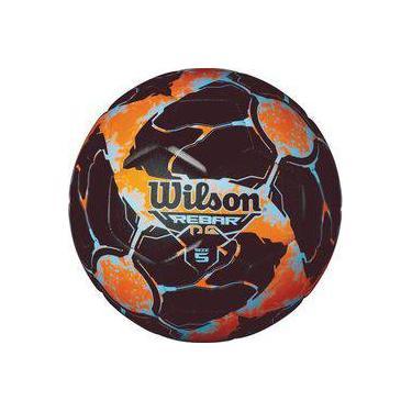 7432c08c0 Bola de futebol de campo Rebar Ng N.5 Laranja Preto Wilson