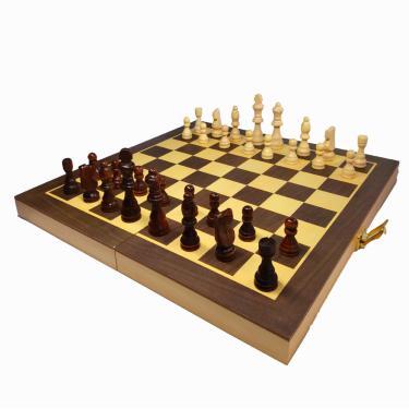 Jogo De Xadrez Grande Tabuleiro De Madeira Profissional 702