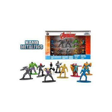 10 Bonecos Marvel Avengers Vingadores Nano Metalfigs Hulk Thanos Vision 275132443a601