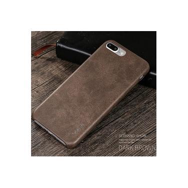 Capa Protetora X-Level Vintage Couro PU para Apple iPhone 7 Plus / iPhone 8 Plus - Marrom Escuro