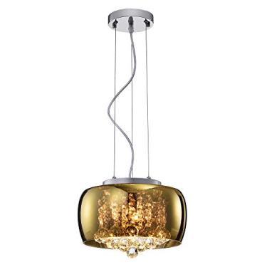 Pendente Bella Iluminação Soho Cromado/ Dourado/ Transparente