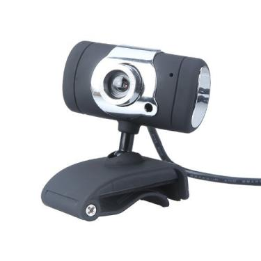 Câmera webcam KKmoon HD com microfone micro USB 2.0 50,0 m, Preto