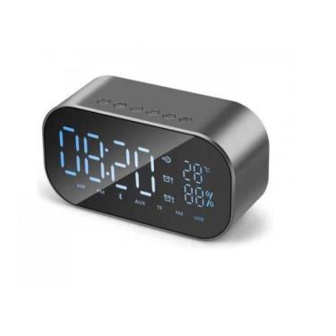 Rádio Relógio 3W RMS Hoopson Clock-01 Micro SD/BT/AUX/Rádio FM