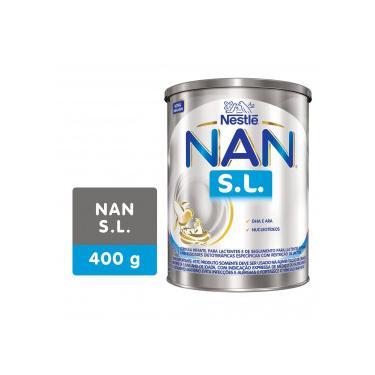 Nan S.L. Sem Lactose Fórmula Infantil Nestlé Lata 400g