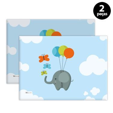 Imagem de Jogo Americano Mdecore Elefante Azul 2pçs