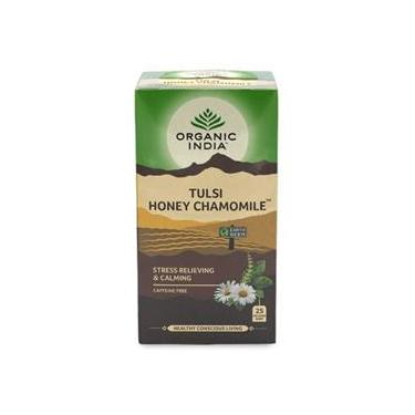 Chá Tulsi Mel e Camomila 25 Sachês  Organic India