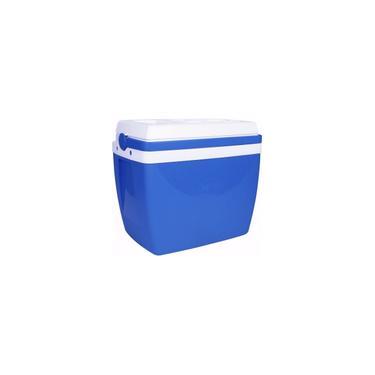 Imagem de Caixa Termica 34 Litros Azul com Alca Mor