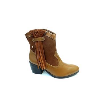 Bota Ankle Boot Camurça 144201 Cravo E Canela (27)