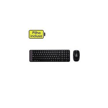 Kit wireless Combo Teclado e Mouse sem fio Logitech MK220 com Design Compacto, Conexão USB, Pilhas Inclusas e Layout ABNT2 CX 1 UN