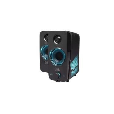 Caixa de Som Gamer JBL Quantum Duo, Som Surround Dolby Digital, Bluetooth 4.2, 20RMS, USB, P2 - JBLQUANTUMDUOBLKBR