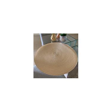 Imagem de Jogo Americano Bege Redondo Com 6 Unidades Mesa Cód jar