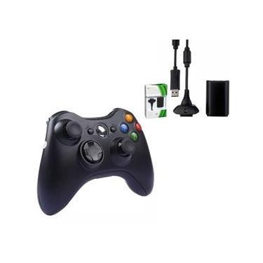Controle Xbox 360 Original Sem Fio com Bateria Cabo Usb