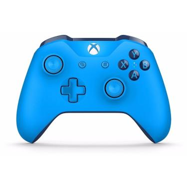 Controle Xbox One Dual Wireless Bluetooth Branco/Preto/Azul - Azul