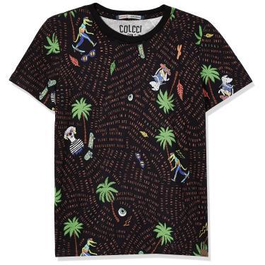 Colcci Fun Camiseta Estampada, 10, Preto/Vermelho/Verde/Azul/Amarelo/Verde/Laranja/Marrom/Cinza