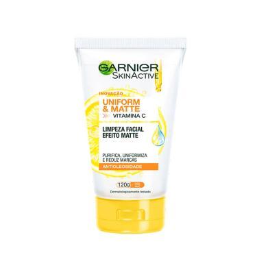 Sabonete Líquido Facial Garnier SkinActive Uniform&Matte Vitamina C Antioleosidade com 120g 120g