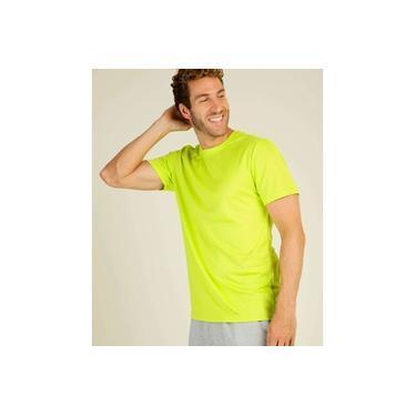 Camiseta Masculina Fitness Neon Manga Curta MR