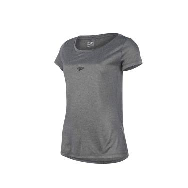 Speedo Blend Camiseta de Manga Curta, Mulheres, Cinza, P