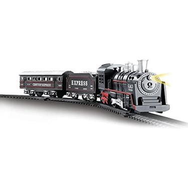 Imagem de Pista Trem Locomotiva Com Luz E Som 103 5Cm, DM Toys