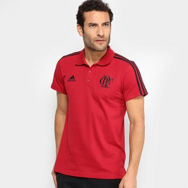 Camisa Polo Flamengo Adidas 3 Stripes Masculina - Masculino 2600cfec0584d