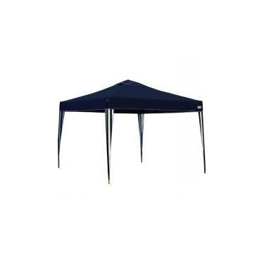Tenda Gazebo Azul em Poliéster 3X3 Metros Articulada c/ Pés em Alumínio X-Flex MOR -