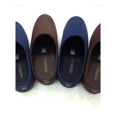 Sapato Feminino Conforto Ortopédico Mule Neoprene 61154 Tamanho:39;Cor:Azul