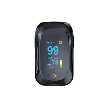 Oximetro Digital De Dedo Medidor De Saturação De Oxigênio No Sangue Pulse