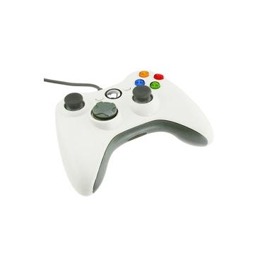 USB Wired Gamepad Controlador Joystick Joypad para XBOX360 PC Branco