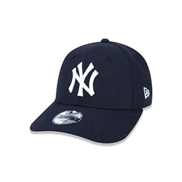 BONE JUVENIL 9FORTY ABA CURVA AJUSTAVEL MLB NEW YORK YANKEES ABA CURVA STRAPBACK MARINHO NEW ERA