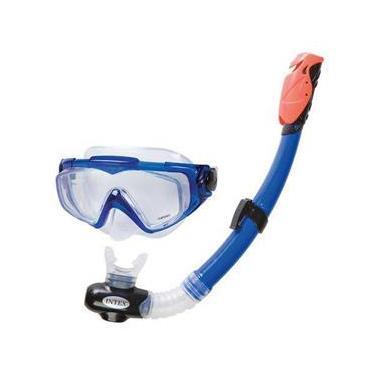 Kit Mergulho Mascara e Tubo Silicone Aqua Pro 55962 Intex