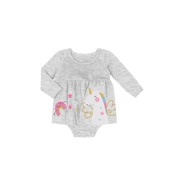 Vestido Infantil Feminino Rovitex Kids Cinza