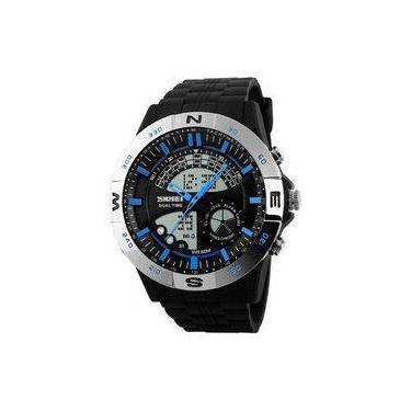8b8308f05f6 Relógio Masculino Skmei Anadigi 1110 Pr-Az