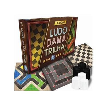 Jogo Tabuleiro 3 Em 1 Ludo Dama Trilha - Pais & Filhos