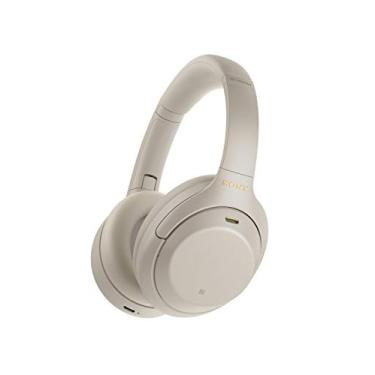 Imagem de Headphone Sony WH-1000XM4 Prata sem fio Bluetooth e com Noise Cancelling (cancelamento de Ruído)   WH-1000XM4SMUC