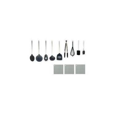 Conjunto De Utensílios De Cozinha Colheres De Silicone 12 Pç - Clink