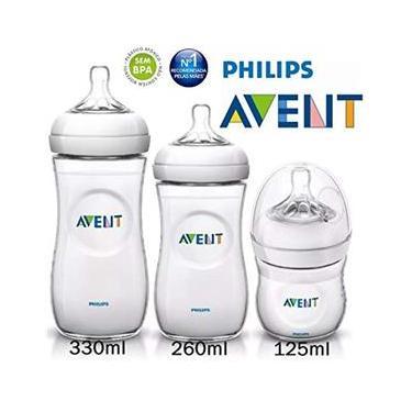 Imagem de Kit Avent Petala 3 Mamadeiras 125 260 330ml Philips Avent