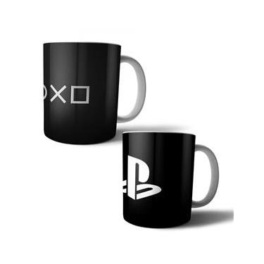 Jogo com 2 Canecas Porcelana Playstation 350ml (BD01)