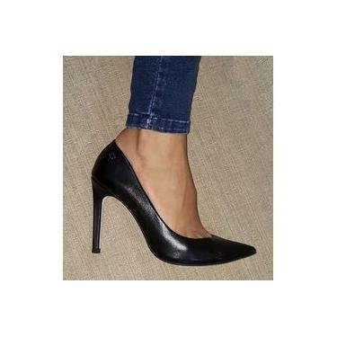 Sapato Scarpin Feminino Capodarte Bico Fino Salto Alto Box 4008379