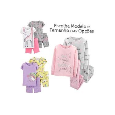 Kit 4 Peças Pijama Infantil Carters Algodão Menina Varios Modelos
