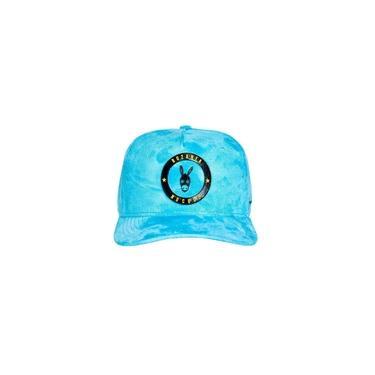 Boné Premium Buzanfa Snapback Suede Azul Bebe