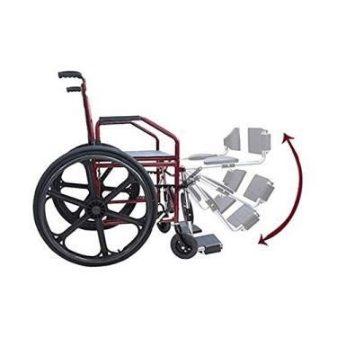 Imagem de Cadeira de Rodas Manual Dobrável com Pés Eleváveis modelo 1012- Jaguaribe