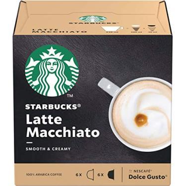 Imagem de Café em Cápsula, Starbucks, Nescafé, Dolce Gusto, Latte Macchiato, 12 Cápsulas
