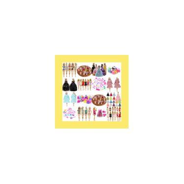 Imagem de Super Kit De Roupas e Acessórios Para Bonecas Barbie