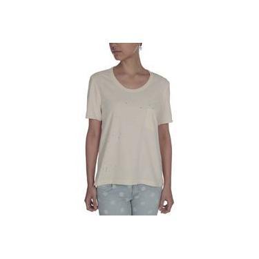 Camiseta Eva T-Shirt Respingos Stone Bege