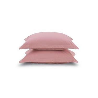 Imagem de Kit 2 fronhas rosa avulsas - 100% algodão extra macio - liss karsten