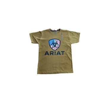 Camiseta Masculina;Mostarda; Ariat