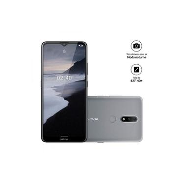Smartphone Nokia 2.4 64GB, 3GB RAM Cinza