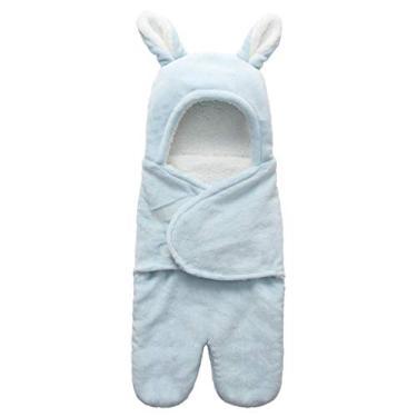 Imagem de Horoshop Saco de dormir macio e quente de lã de coral, saco de dormir para carrinho de bebê