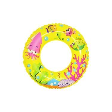 Boia Inflável de Cintura Infantil Peixes do Mar até 7 anos - Amarela