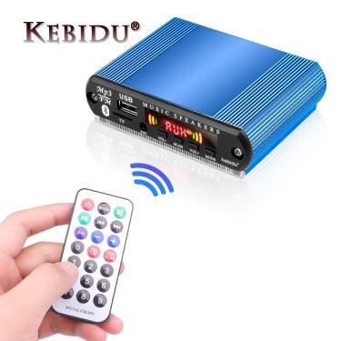 Imagem de Kebidu 12v mãos livres bluetooth rádio estéreo mp3 player placa decodificadora de suporte fm tf